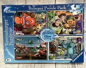 Ravensburger Disney Bumper Puzzle Pack 4 x 100 Pieces Brand New Sealed 6+