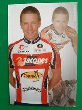 CYCLISME carte cycliste EVERT VERBIST équipe JACQUES TOPSPORT 2007
