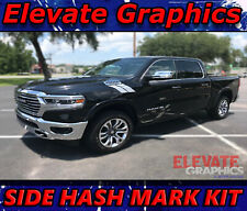 Fits Dodge Ram 1500 Side Hash Mark Stripes Graphics Decals Double Bar 2000 2021