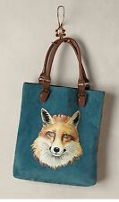 Anthropologie Garden Guest Fox Leather Purse Bag Handbag Tote Miss Albright