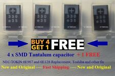 5 x SMD Tantalum Capacitor 330uf 2.5v Replace NEC/TOKIN 0E907 [ OE907 ] 0E128