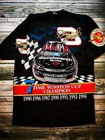 VTG NASCAR Dale Earnhardt 1994 Winston Cup Champion All Over Print T Shirt XL