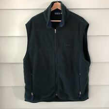 Patagonia Mens Fleece Vest Green Zip Front Pockets Mock Neck Hiking Outdoor XL