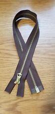 1 × 22'' inch Talon Repro vintage style brass jacket Zip-Zipper