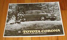 Original 1967 Toyota Corona Sales Brochure Sport Family Economy Sedan