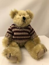 "Ty Attic Treasures Chelsea 8"" Jointed Plush Bear in Striped Sweater"