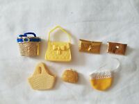 LOT OF BARBIE DOLL PURSES/BAGS  (YELLOW)