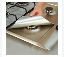 Cooks Innovations Non-Stick Gas Range Burner Protectors SILVER color Cut to Fit