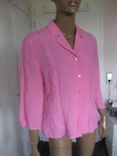 Betty Barclay tolle Bluse 40/42  3/4 Arm rosa mit Leinen