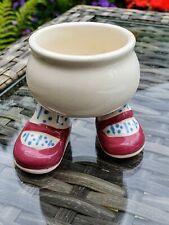 Vintage Carlton Ware Lustre Pottery 1973  Walking Feet Egg Cup