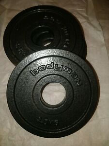 4 X 2.5kg Cast Iron Olympic Weight Plates