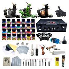 Tattoo Complete Tattoo Kit 3 Tattoo Machine LCD Dual Power Supply 28 Ink tool