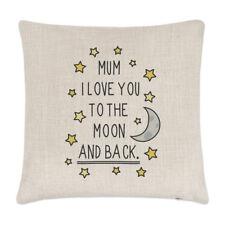 Mamá te amo a la Luna y espalda Lino Cubierta para Cojín-almohada día de las Madres