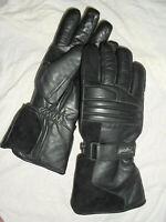 Polo Motorrad Biker Thermo Handschuhe Gloves Leder Schwarz Gr S