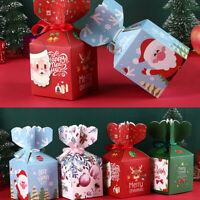 Christmas Candy Box Bag Caja de árbol de Navidad con campanas Bolsa de papel