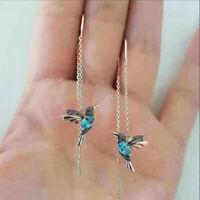 Hummingbird Ear Threader Earrings Stud Drop Dangle Charm Women Party Jewelry Hot