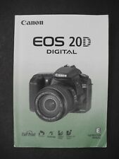 Canon Eos 20D Camera Instruction Book / Manual / User Guide
