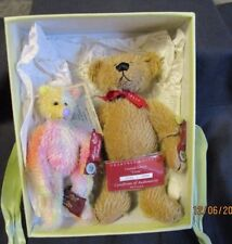 2 Crabtree & Evelyn Limited Edition Cyrus 100 % Mohair Plush Teddy Bear Russ