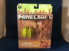NEW Minecraft Steve in Leather Armor Action Figure Series 3