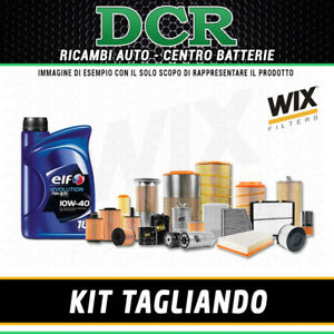 KIT TAGLIANDO RENAULT CLIO II 1.2 58CV 43KW DAL 04/2000 +  OLIO ELF 10W40 WIX
