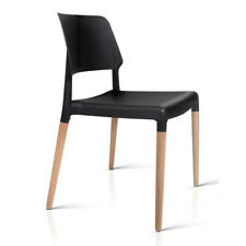20 off With Pspr20 Artiss Set of 4 Wooden Stackable Dining Chairs - Black