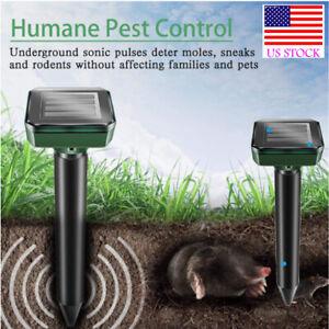 4pcs Solar Snake Repeller Solar Ultrasonic Pest Mole Rodent Rat Possum Repellent