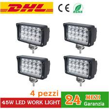 4x 45W Faro da lavoro LED Work light Luce SUV trattore Camion SUV JEEP 12V boat