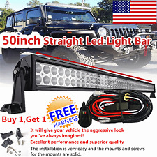 50inch 288w Led Work Light Bar Spot Flood Combo Offroad Ford SUV ATV Driving 52""