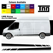 Side Stripe Stickers Vinyl Decals Graphics For Ford Transit LWB MWB SWB Van