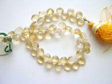 Natural Citrine faceted diamond beads 5-7mm. Genuine gemstone beads. Full strand