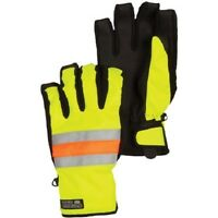 Men's 686 Six Eight Six Safety Insulated Gloves Ski Snowboard Orange Yellow L XL