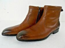 Rockport Men's Brown Leather Chelsea Zip-up Ankle Boot's 11W adiPRENE insole EUC