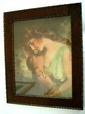 Antique Sepia Tone Print James Arthur 1904 (?) in Ornate Wooden Period Frame