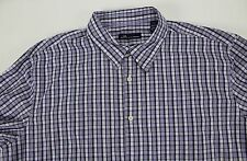 NWT John Ashford Men's Shirt XXL Purple Plaid MSRP $35