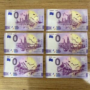Euro Souvenir Oman Kuwait Bahrain Classic and Anniversary Rare Matching Numbers