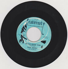 DALE WRIGHT - I'M THE LOVIN TYPE - WALK WITH ME  - 45 RPM - FRATERNITY #F-761