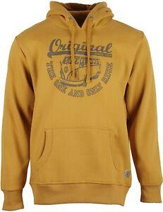 Herren Hoodie VW Bulli T1 Kapuzenpullover Sweatshirt »ORIGINAL RIDE« Gelb Rust
