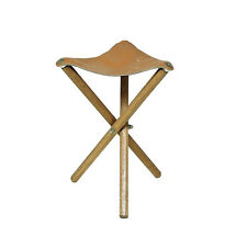 Richeson Wood Stool With Leather Seat