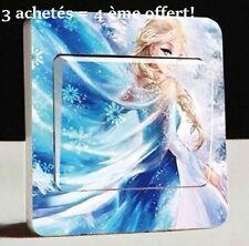 """Autocollant Interrupteur """"La Reine des Neiges"""" Switch Sticker Déco Murale 9×9 cm"""
