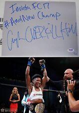 Angela Hill Signed Invicta FC 17 MMA Fight Used 9x11 Canvas PSA/DNA COA UFC #/17