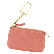 Gucci Wallet Purse Coin Purse Guccissima Pink Gold Woman Authentic Used T2972