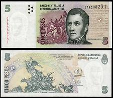ARGENTINA 5 PESOS (P353) N. D. (2014) prefisso J UNC