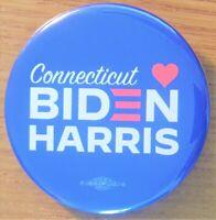 2020 Joe Biden Kamala Harris Campaign Button from  Connecticut Democratic Party