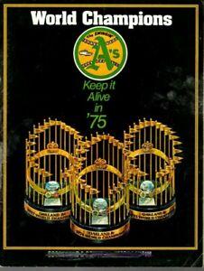 1975 MLB Baseball Program Oakland A's, Reggie Jackson, unscored ~ Fair (Ink)
