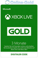 Xbox Live 3 Monate Gold Mitgliedschaft Code - 3 Month Microsoft Xbox 360 One Key