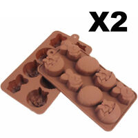 2PCS Easter Egg Bunny Chocolate Cake Cookie Silicone Baking Mold Mould DIY Decor
