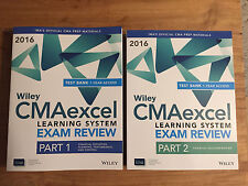 Wiley CMAexcel Learning System Exam Review 2016 + Test Bank Part 1+2