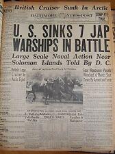 May 8 1942 US Sinks 7 Jap Warships In Battle Near Solomon Islands BNP CF