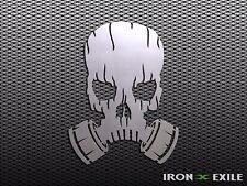 GAS MASK SKULL #2 -- Apocalypse Metal Art Wall Sign Zombie Mancave Skater War