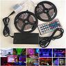 5M/10M 5050 RGB LED Strip with 44keys IR Remote Controller +12V Power Adapter